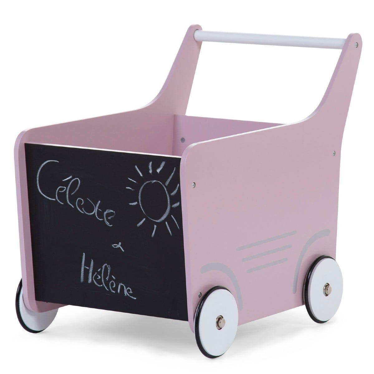 Childhome Wooden Stroller Soft Pink