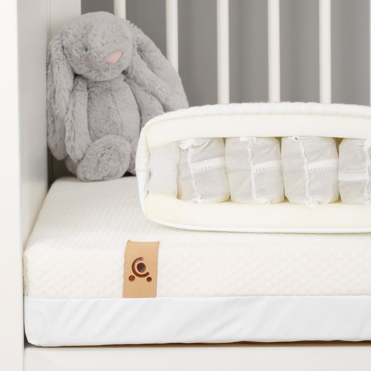 CuddleCo Signature HypoAllergenic Bamboo Pocket Sprung Cot Bed Mattress