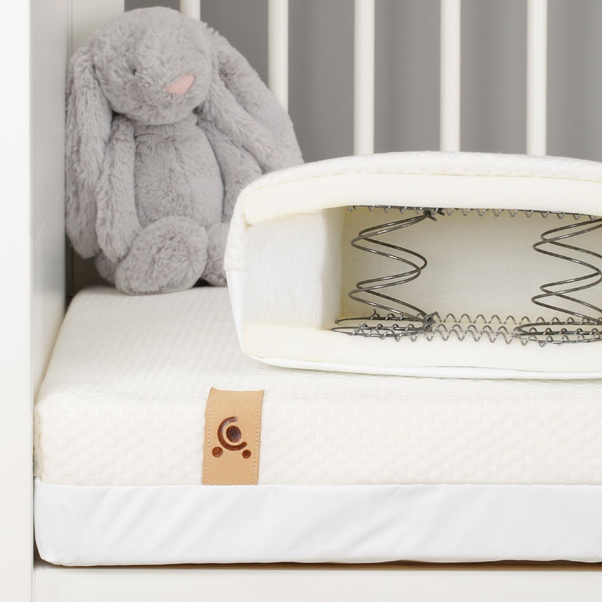 CuddleCo Harmony HypoAllergenic Bamboo Sprung Cot Bed Mattress
