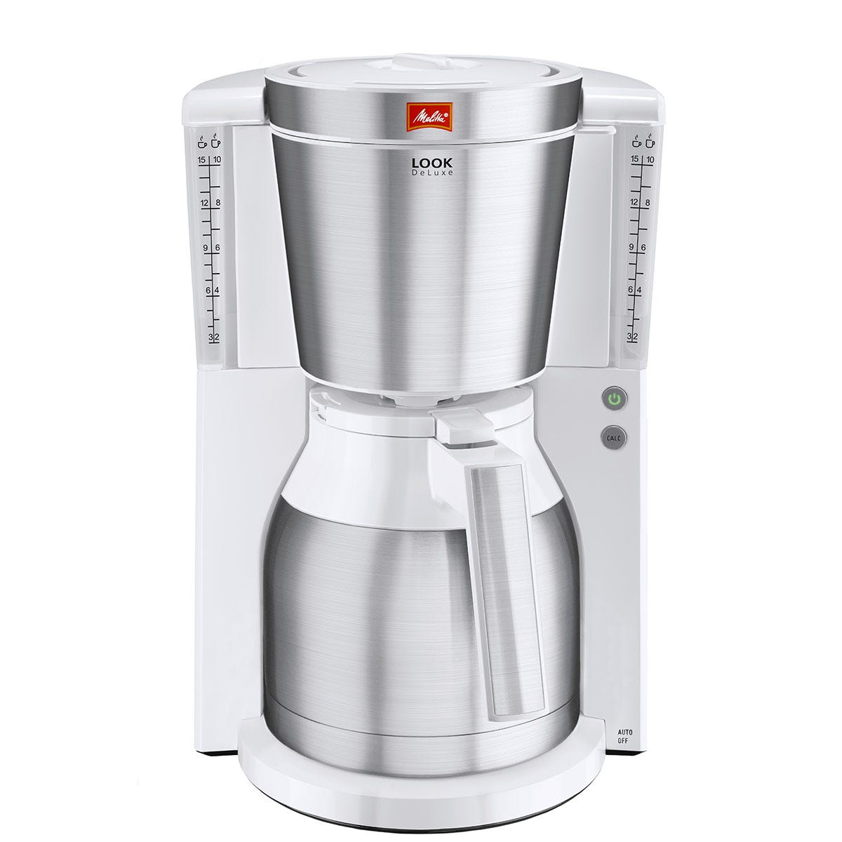 Melitta Look Therm Delux Filter Coffee Machine - Chrome & White