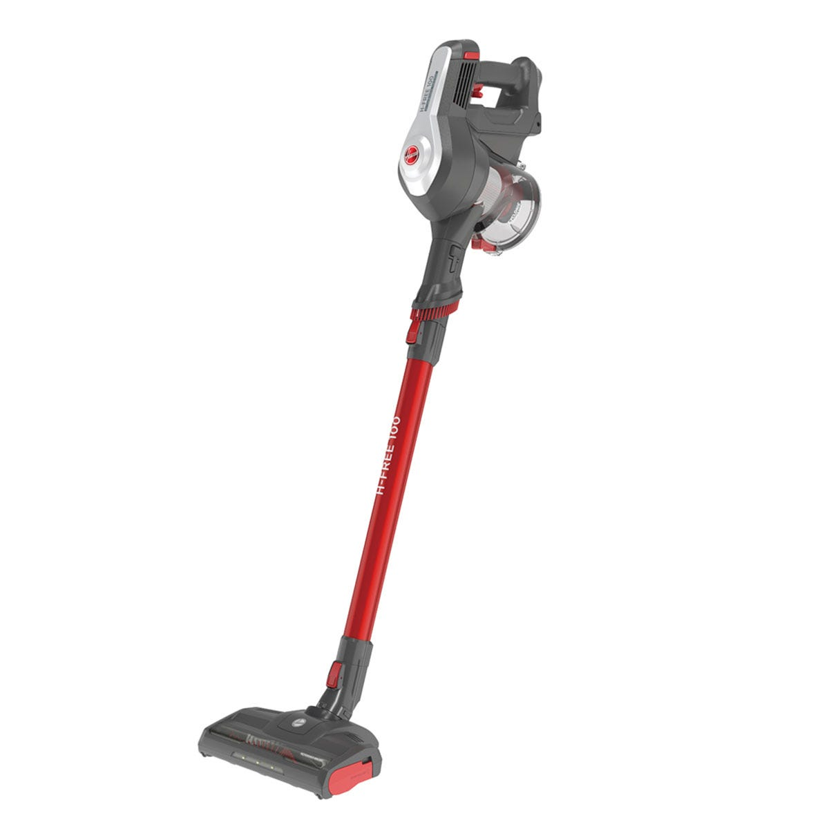 Hoover HF122RPT H-FREE 100 Pets Cordless Vacuum Cleaner - Grey & Red