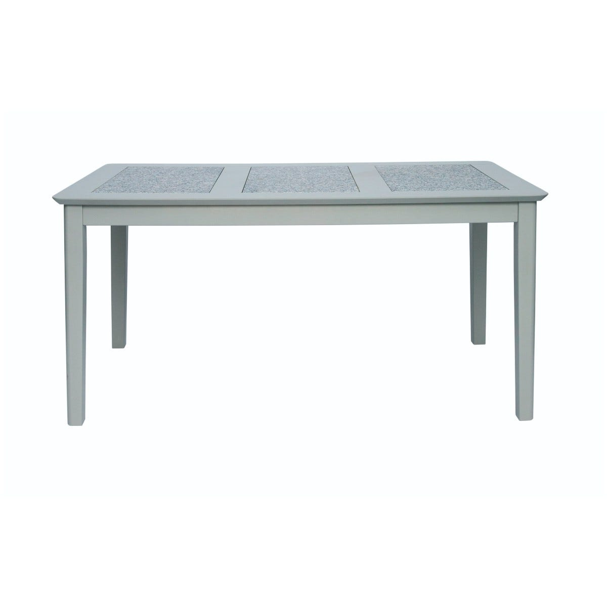 Core Products Perth 150cm Rectangular Dining Table Stone Inset Grey