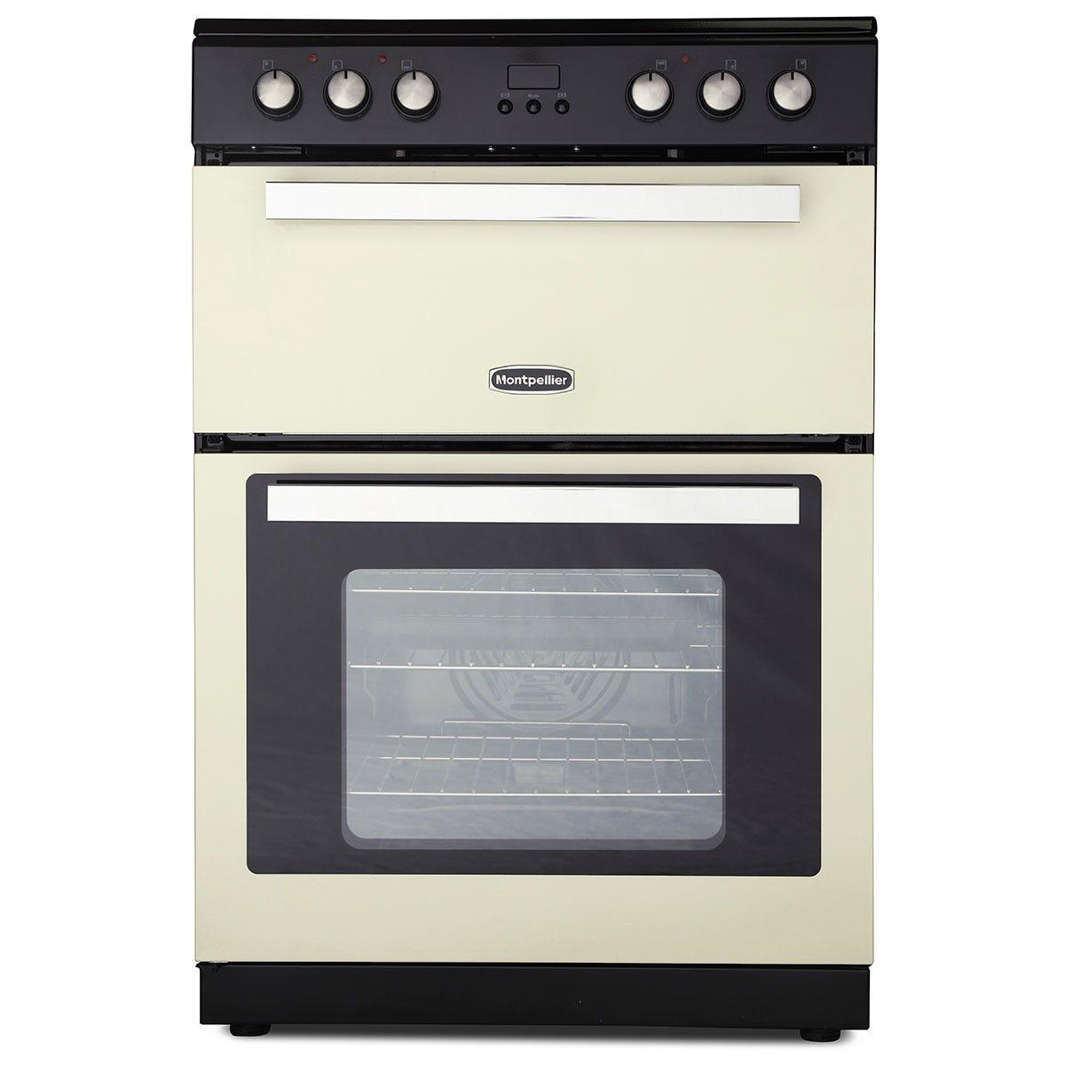 Montpellier RMC61CC 60cm Ceramic Mini Range Cooker with Double Oven - Cream
