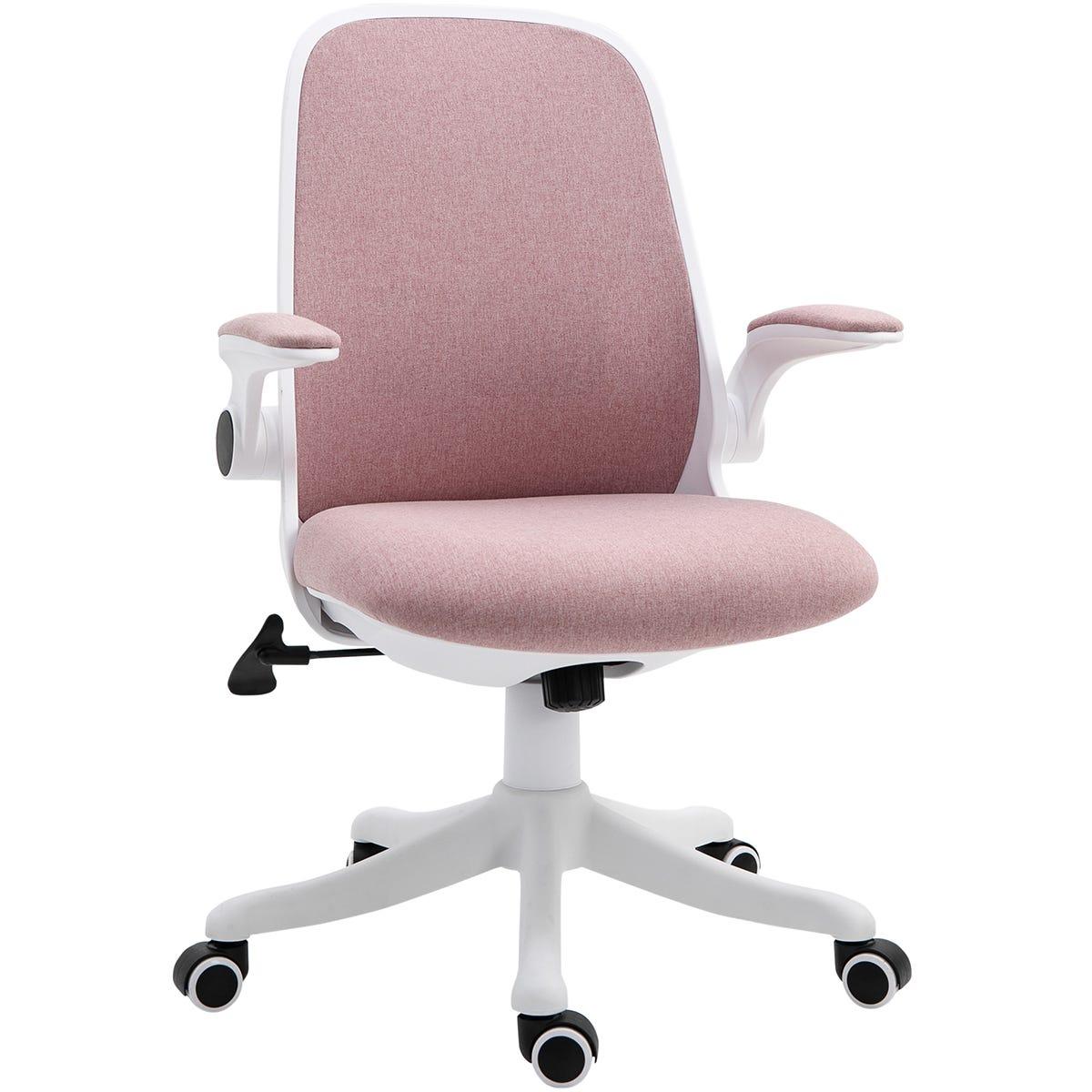 Zennor Hinoki Meshback Cushioned Office Chair - Pink/White
