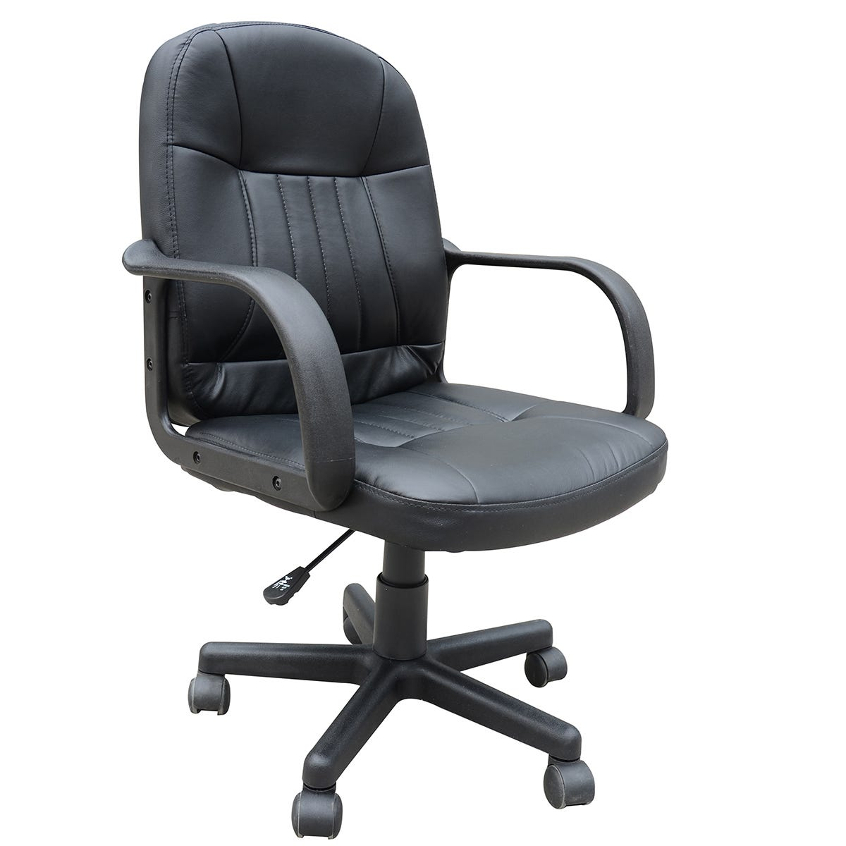 Zennor Mondo PU Leather Low Back Office Chair - Black