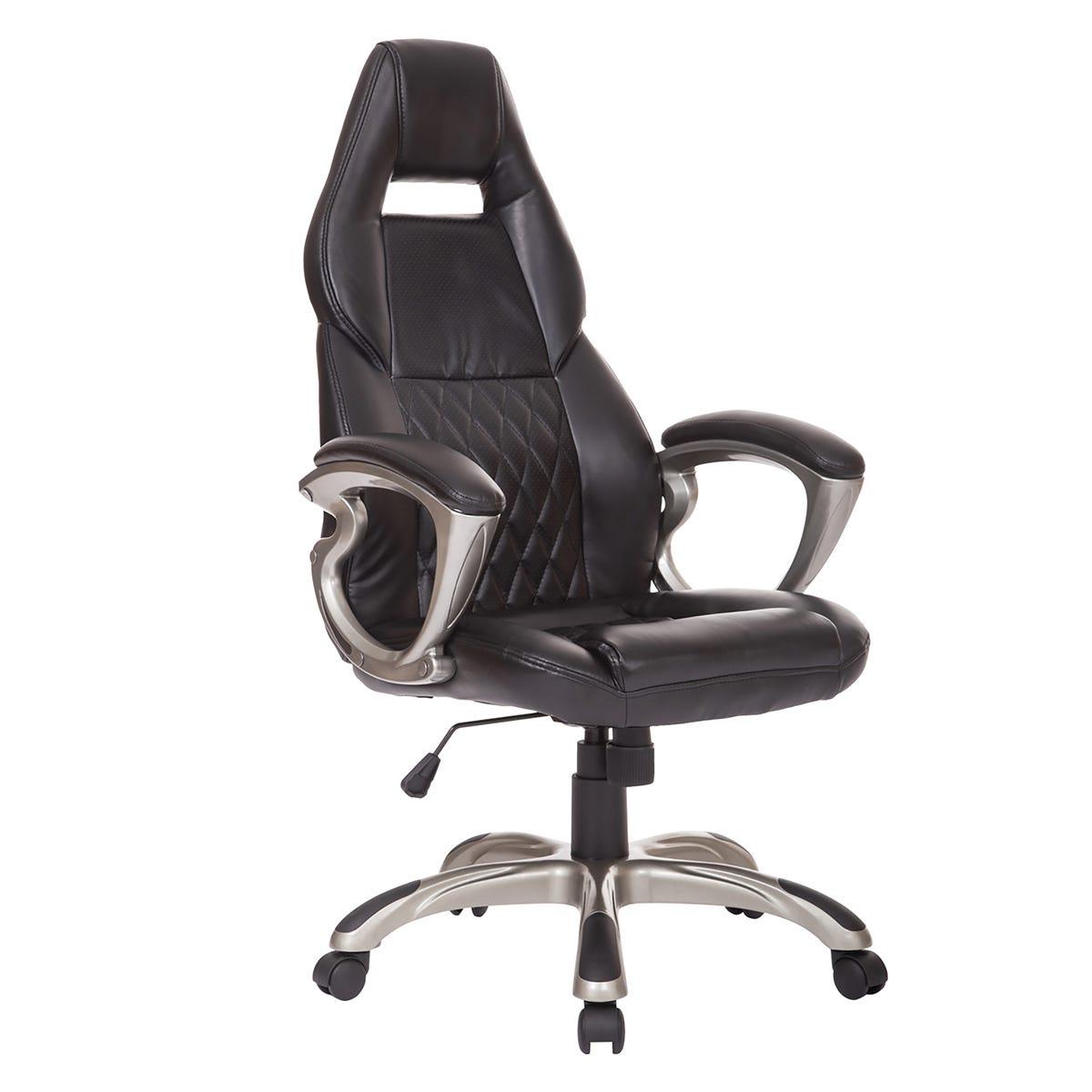 Zennor Verti PU Leather Office Chair - Black