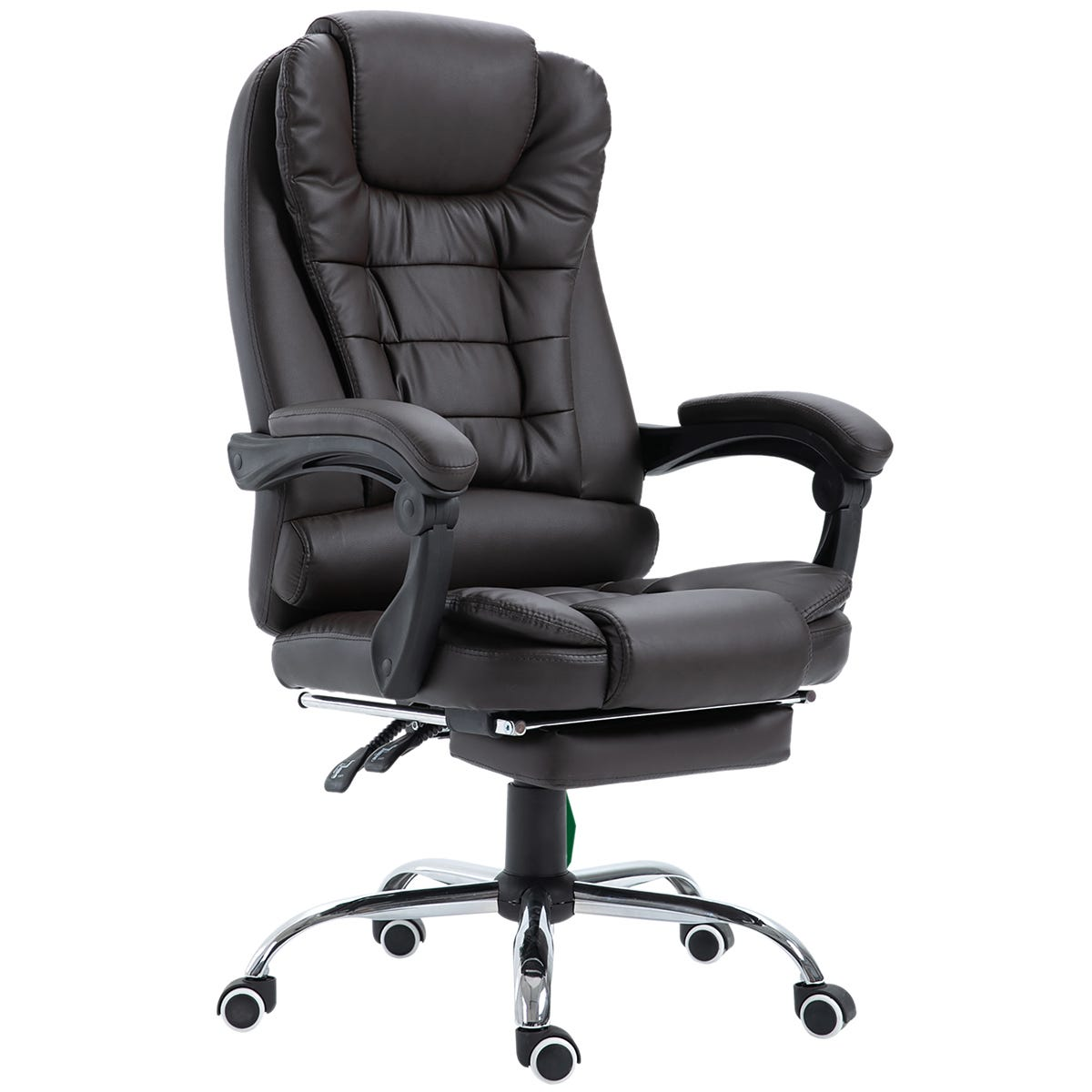Zennor Nikko PU Leather Office Chair with Footrest - Brown