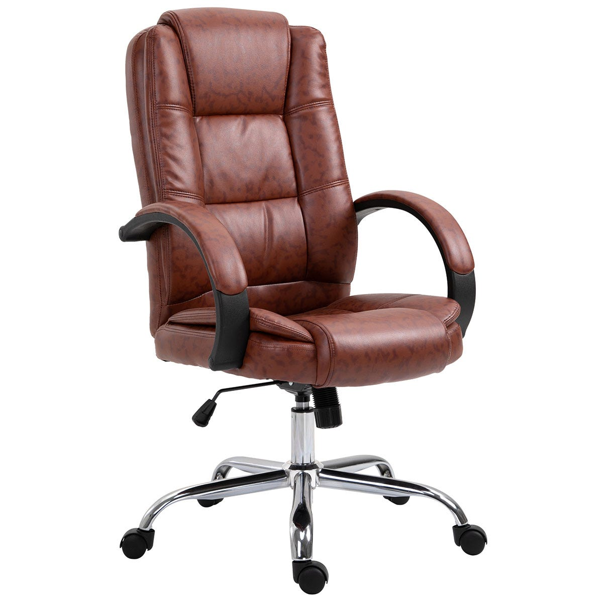 Zennor Tansy PU Leather Office Chair - Brown