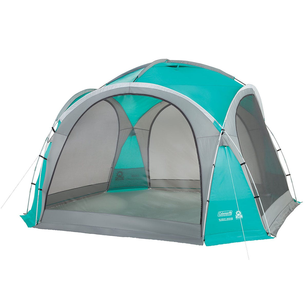 Coleman Gazebo Event Dome Shelter 3.65m with 4 Screen Walls - Teal & Grey