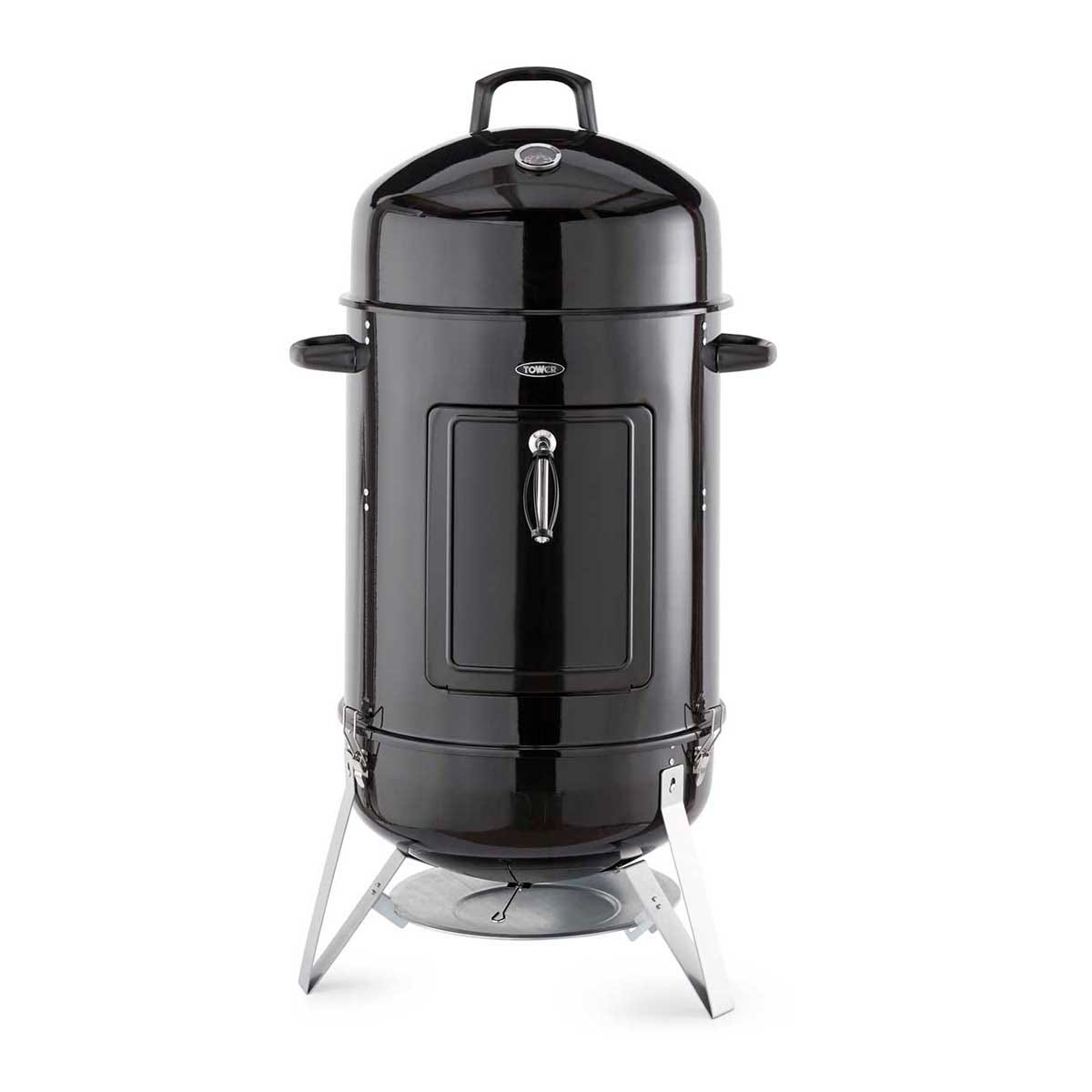 Tower 2-in-1 BBQ Smoker Grill - Black