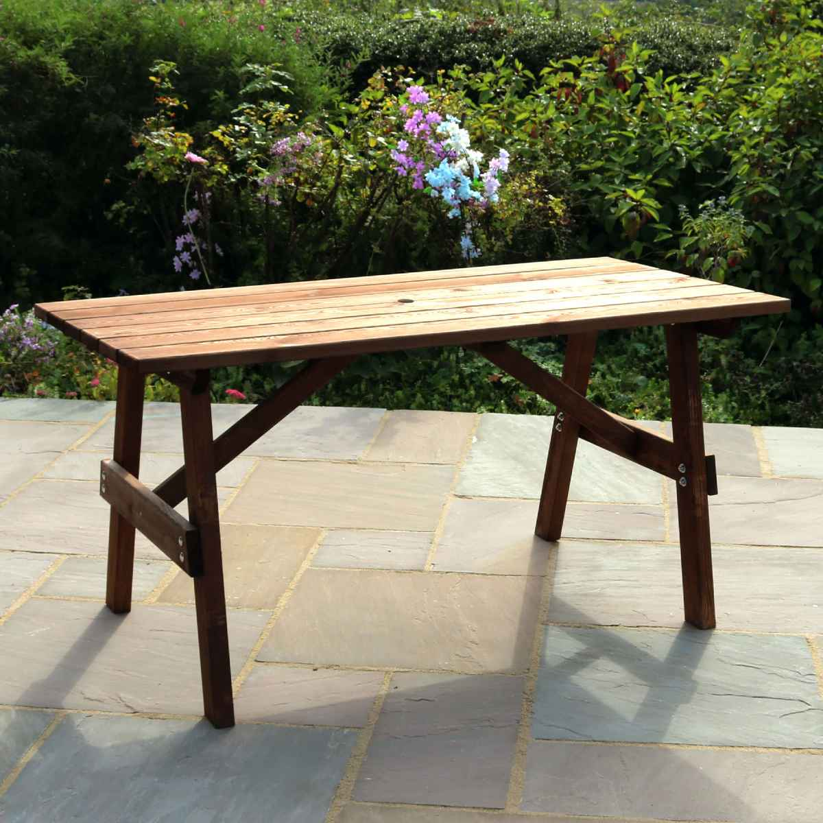 Zest4Leisure Charlotte Rectangular Wooden Garden Table