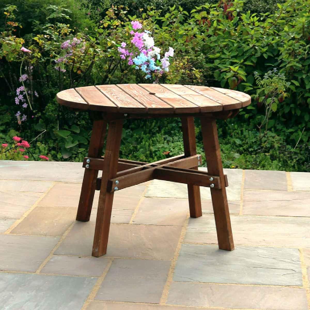 Zest4Leisure Charlotte Round Wooden Garden Table