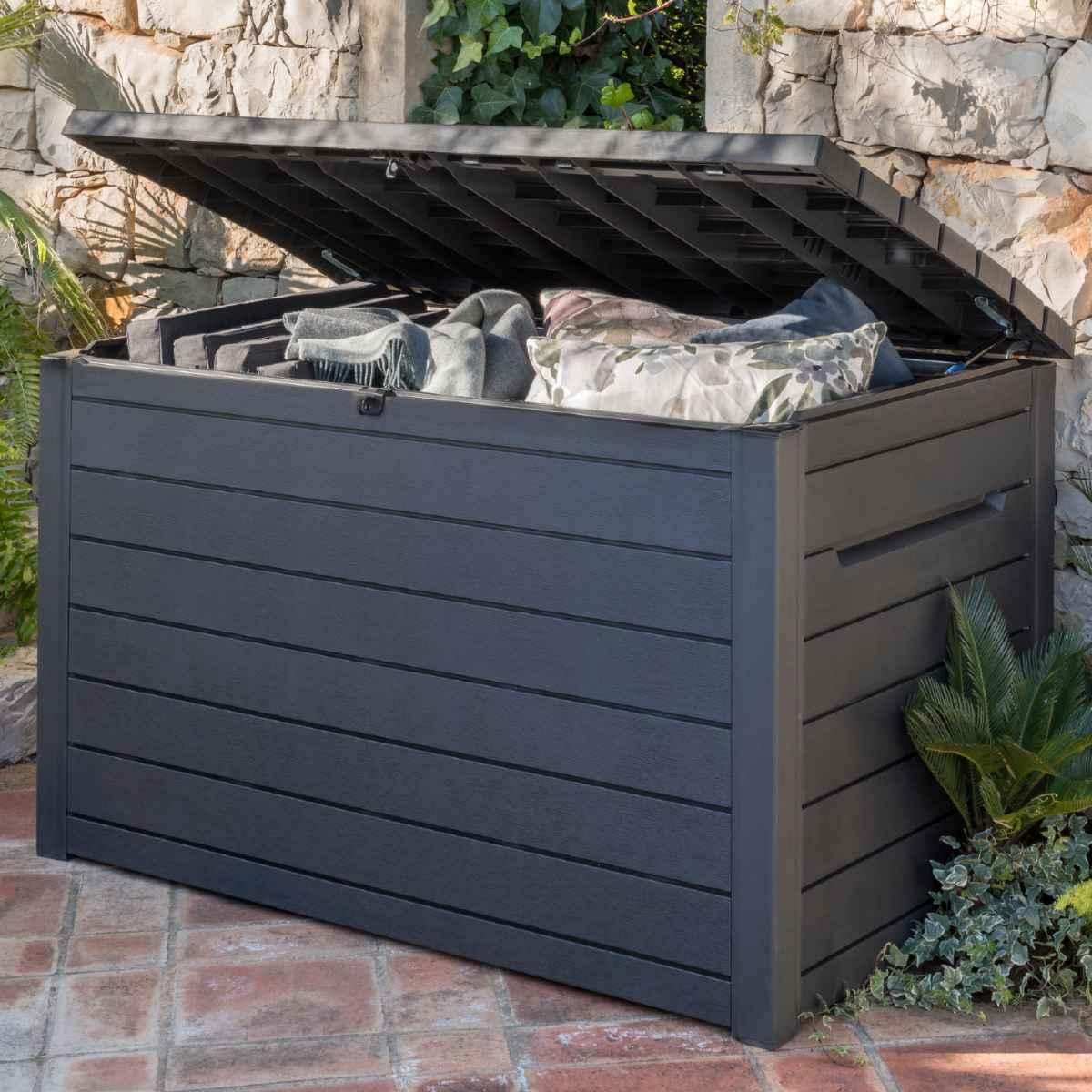 Keter 870L XXL Deck Storage Box - Anthracite Grey
