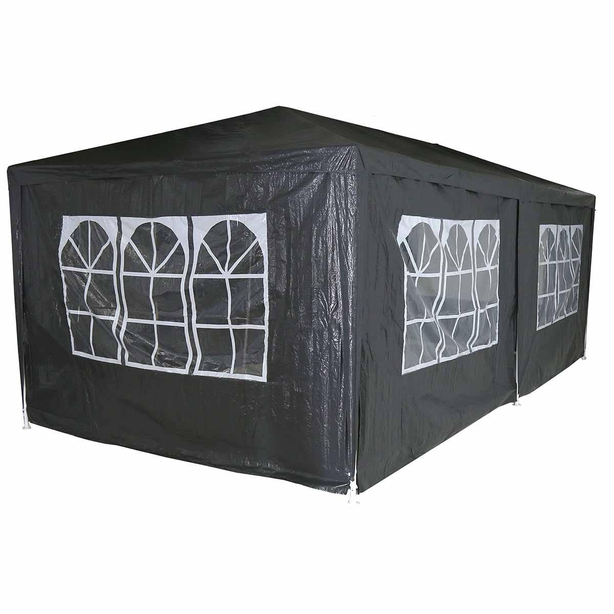 Charles Bentley 3m x 6m Party Tent Gazebo - Dark Grey