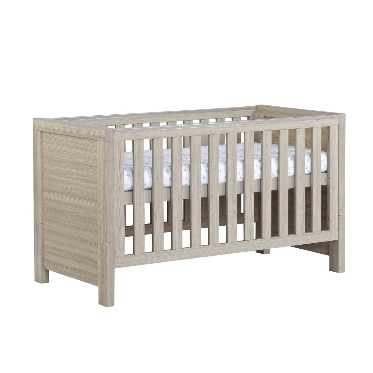 Babymore Luno Cot Bed Oak Effect