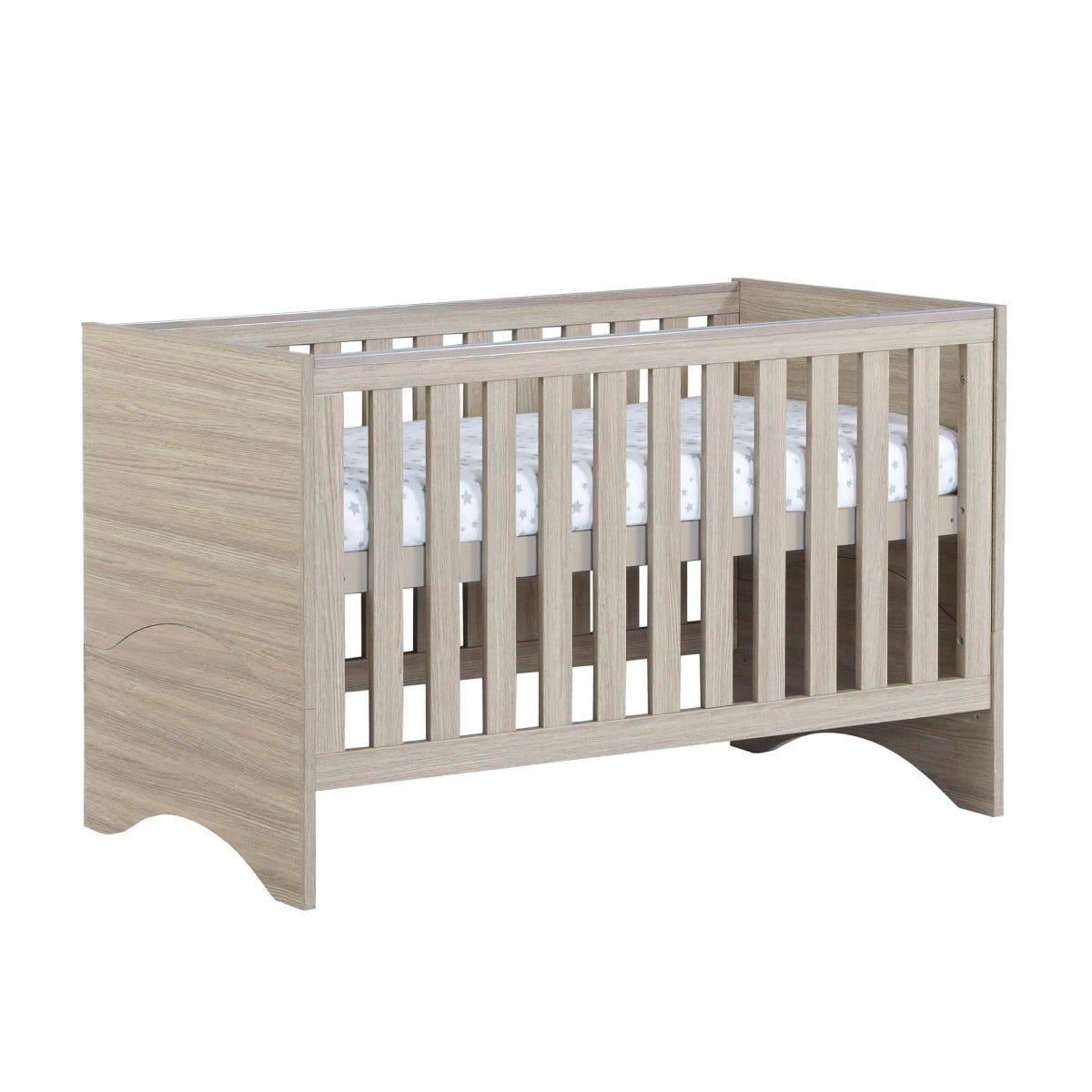 Babymore Veni Cot Bed Oak Effect