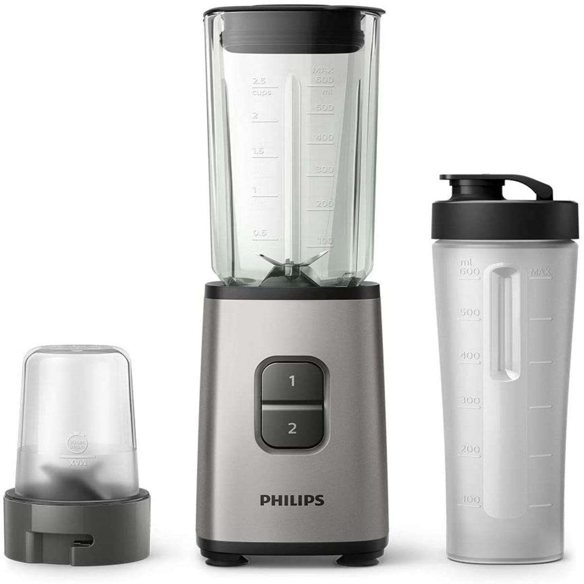 Philips HR2605/81 Daily Collection 3-in-1 Mini Blender - Black