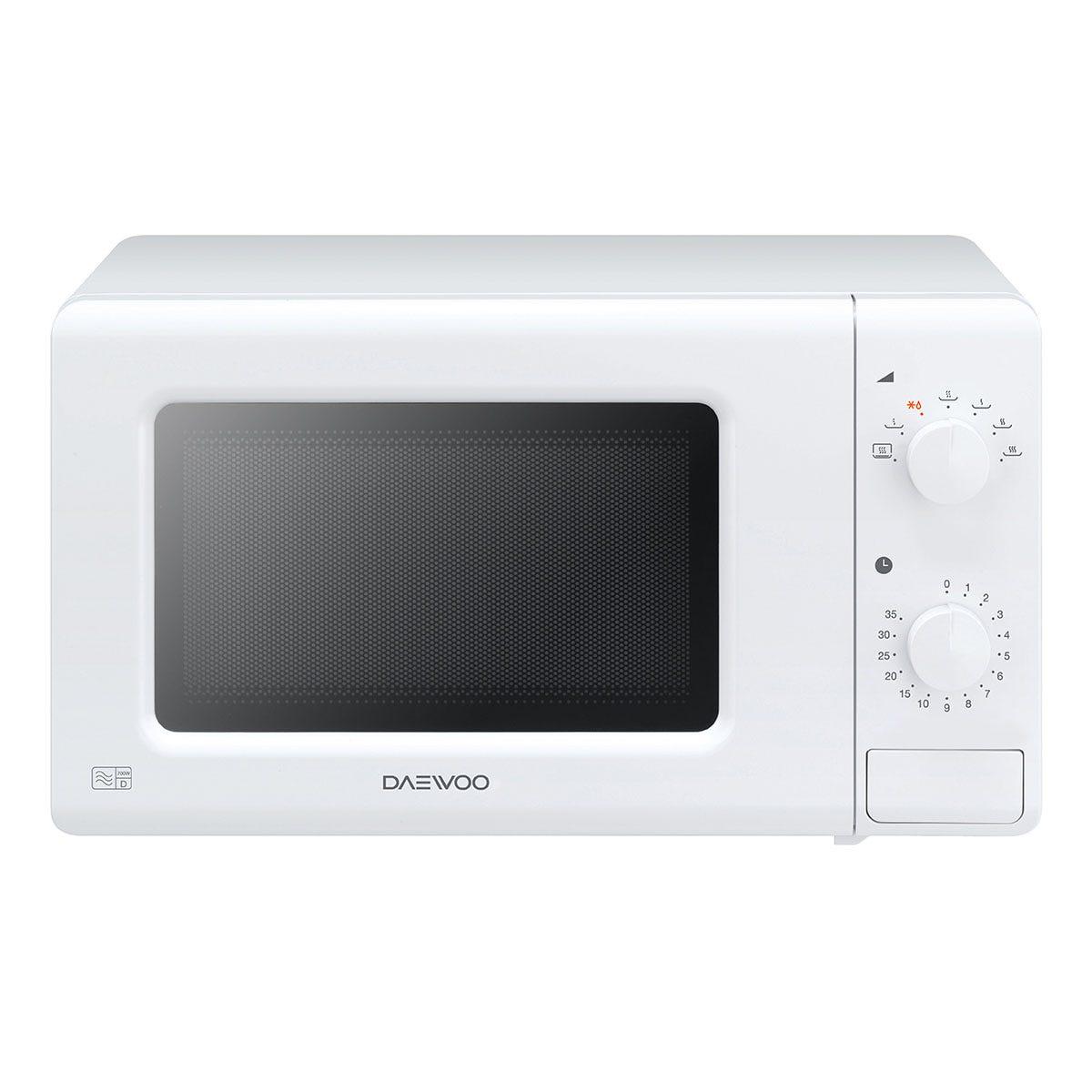 Daewoo KOR6M17 20L 700W Solo Manual Microwave - White