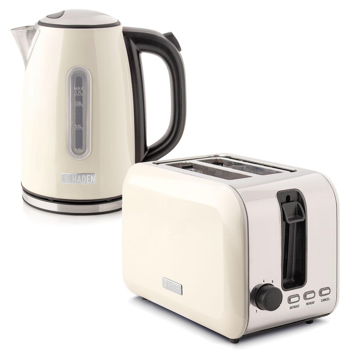 Haden 196866 Tunbridge 1.7L Kettle & 2-Slice Toaster Twin Set - Cream
