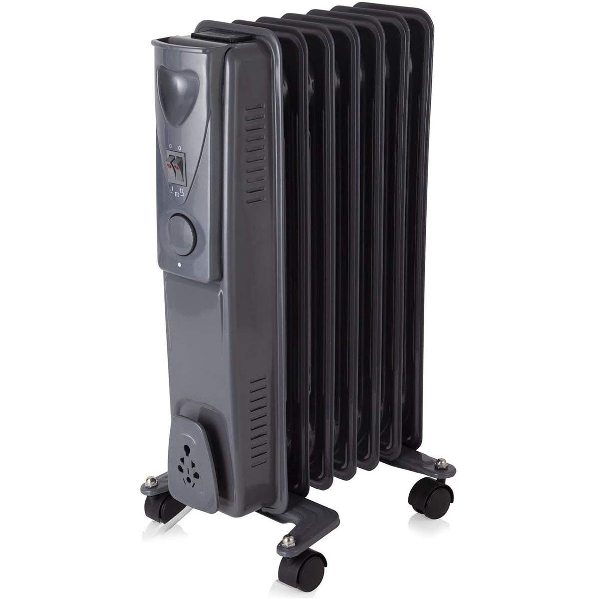 Warmlite WL43003YDT 1500W 7 Fin Oil Filled Radiator - Dark Titanium