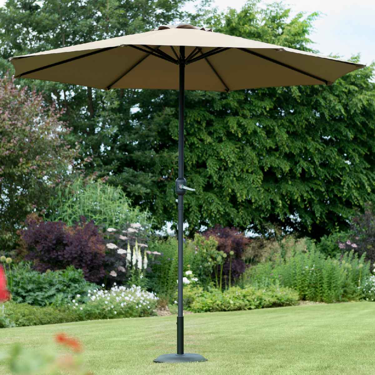 Garden Must Haves Penny 2.2m Parasol (base not included) - Taupe