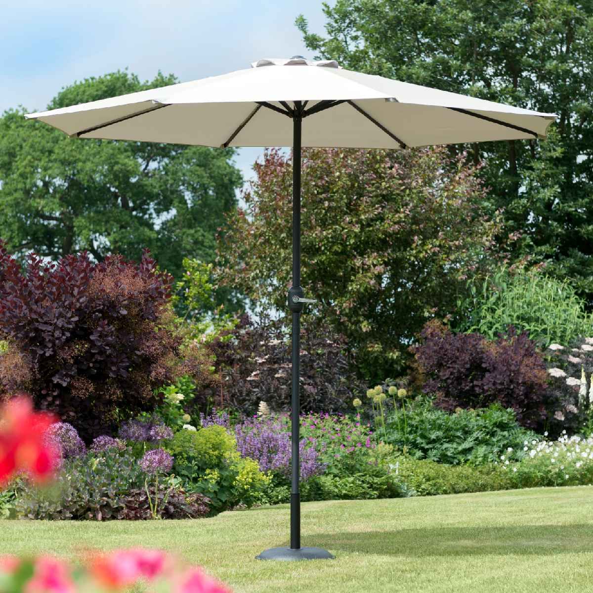 Garden Must Haves Penny 2.2m Parasol (base not included) - Grey