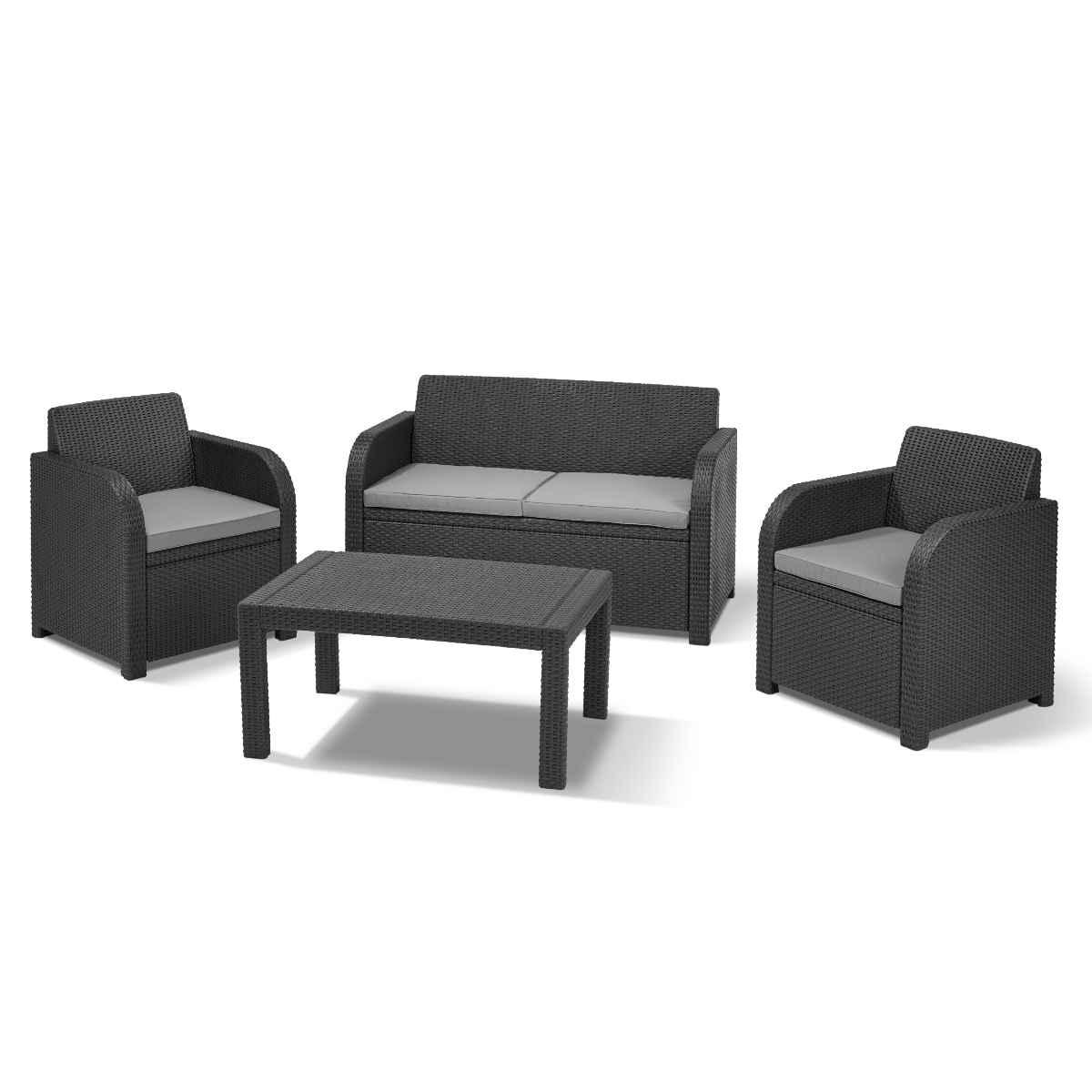 Norfolk Leisure Oklahoma Outdoor Sofa Set - Grey