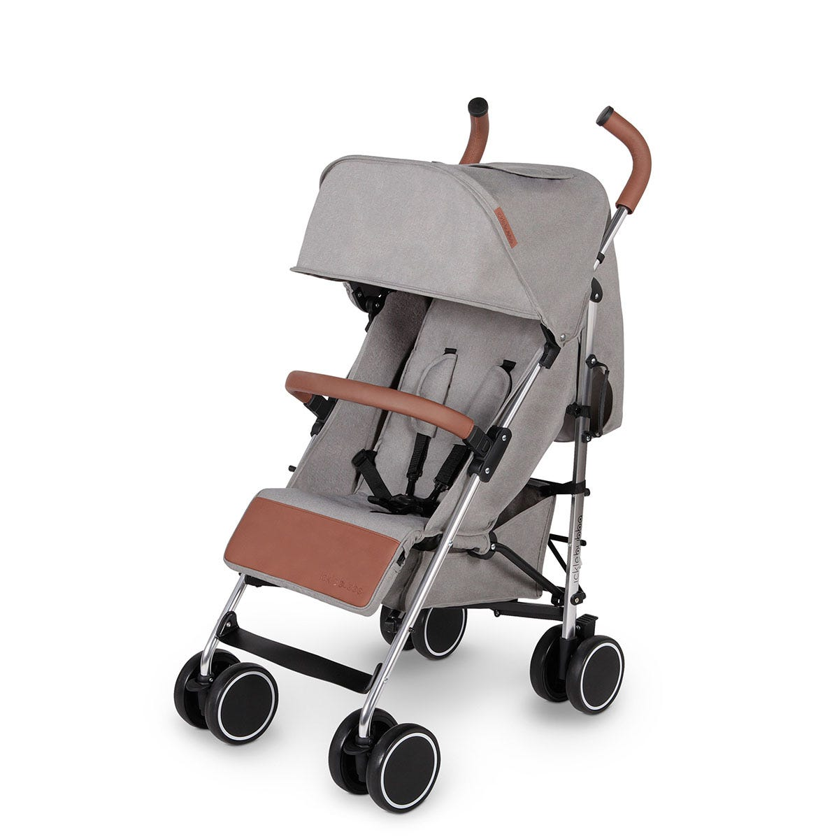Ickle Bubba Discovery Stroller - Grey on Silver