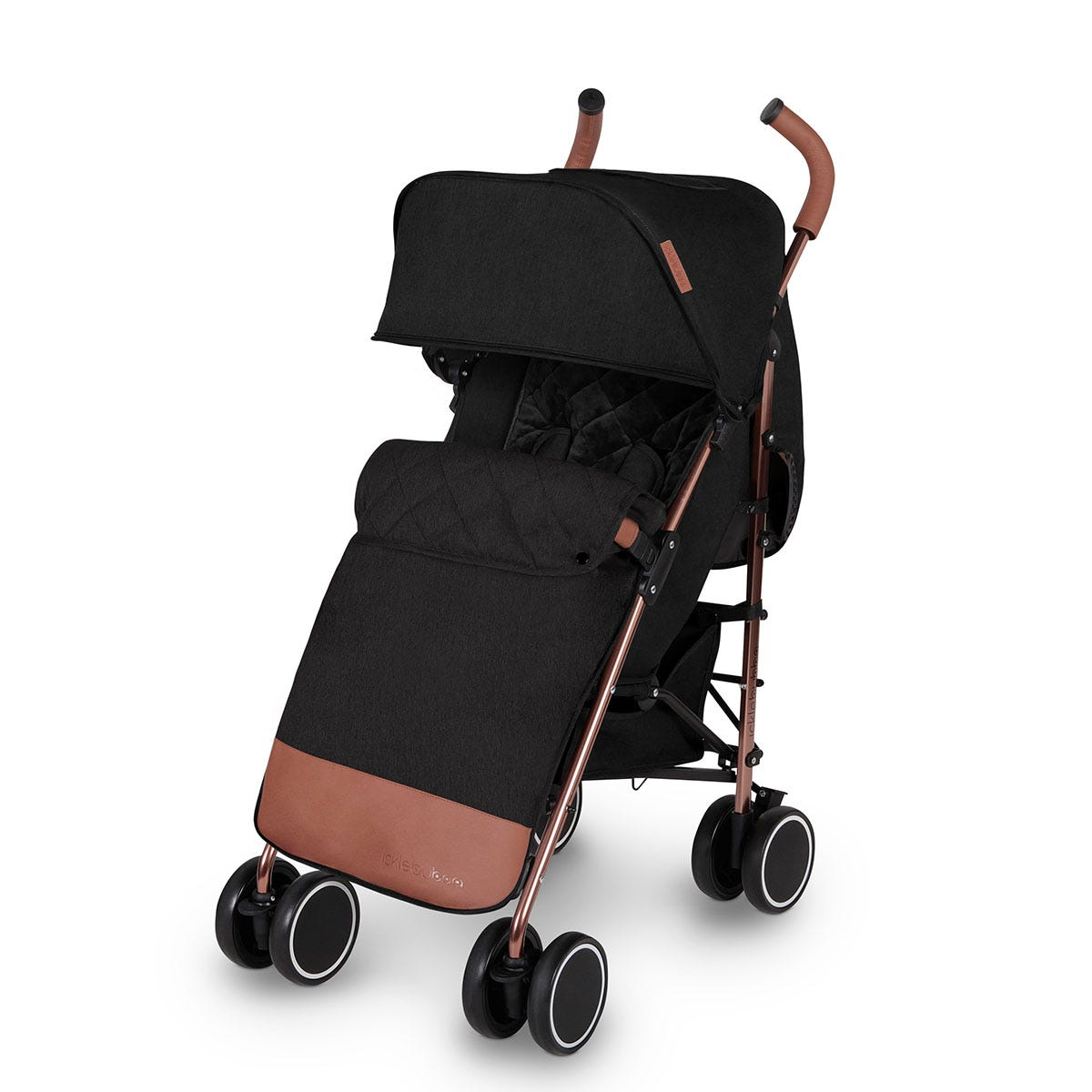 Ickle Bubba Discovery Max Stroller - Black on Rose Gold