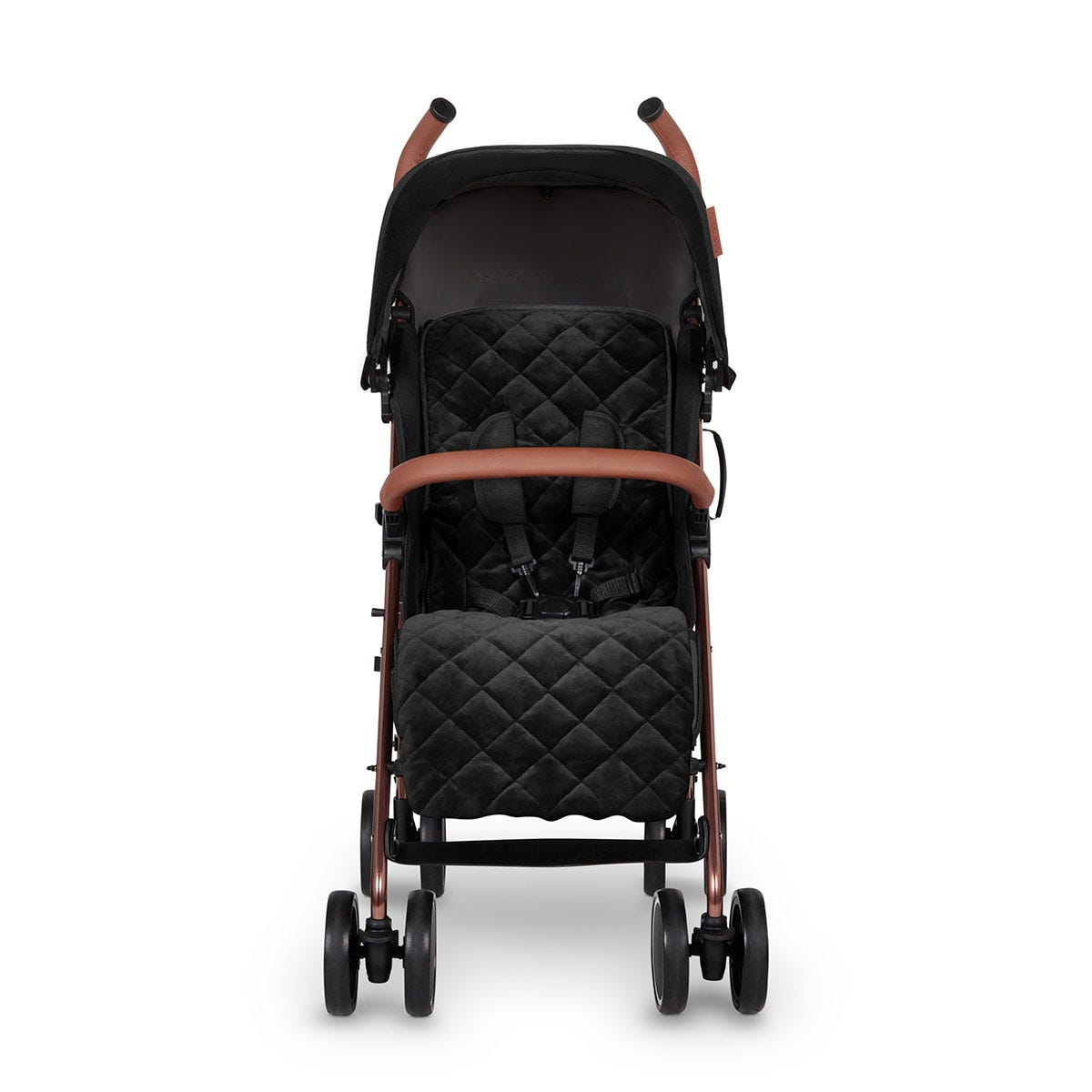 Ickle Bubba Discovery Prime Stroller - Black on Rose Gold