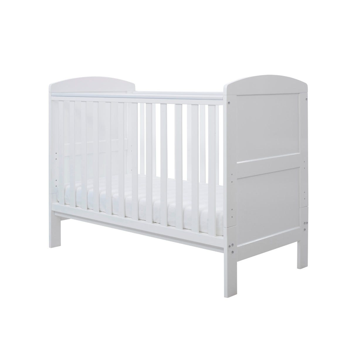 Ickle Bubba Coleby Mini Cot Bed and Sprung Mattress White