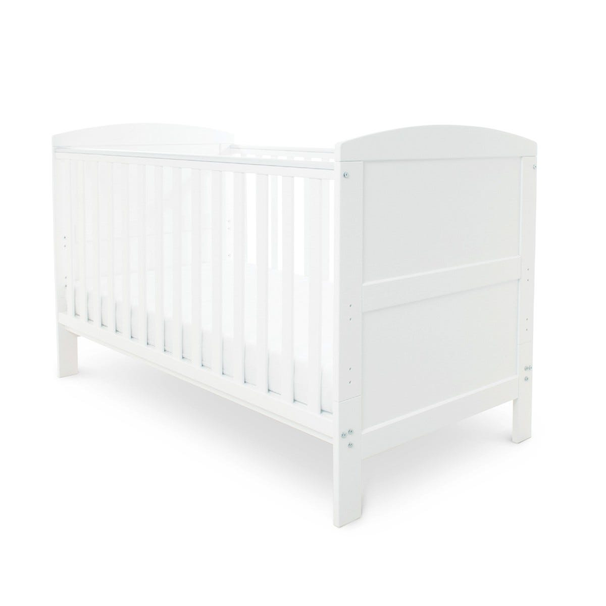 Ickle Bubba Coleby Classic Cot Bed and Pocket Sprung Mattress White
