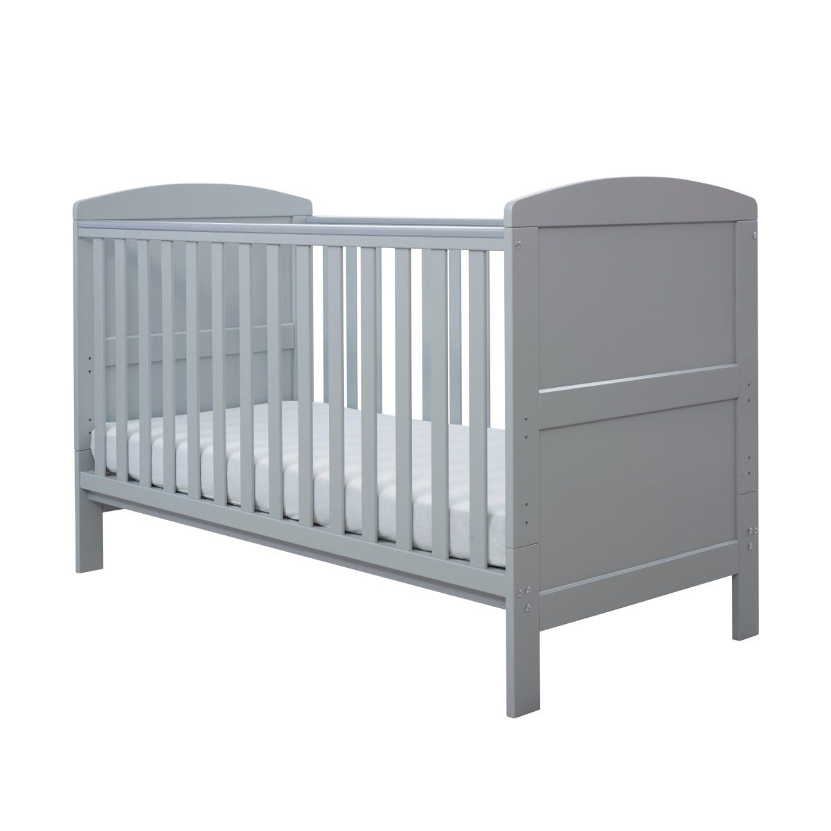 Ickle Bubba Coleby Classic Cot Bed and Pocket Sprung Mattress Grey