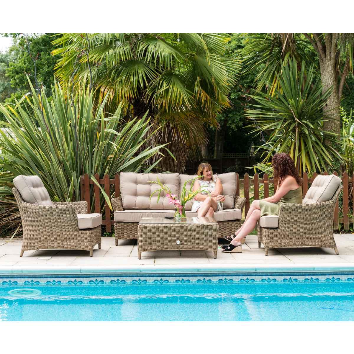 Katie Blake Mayberry Rattan 2 Seater Sofa Set - Natural