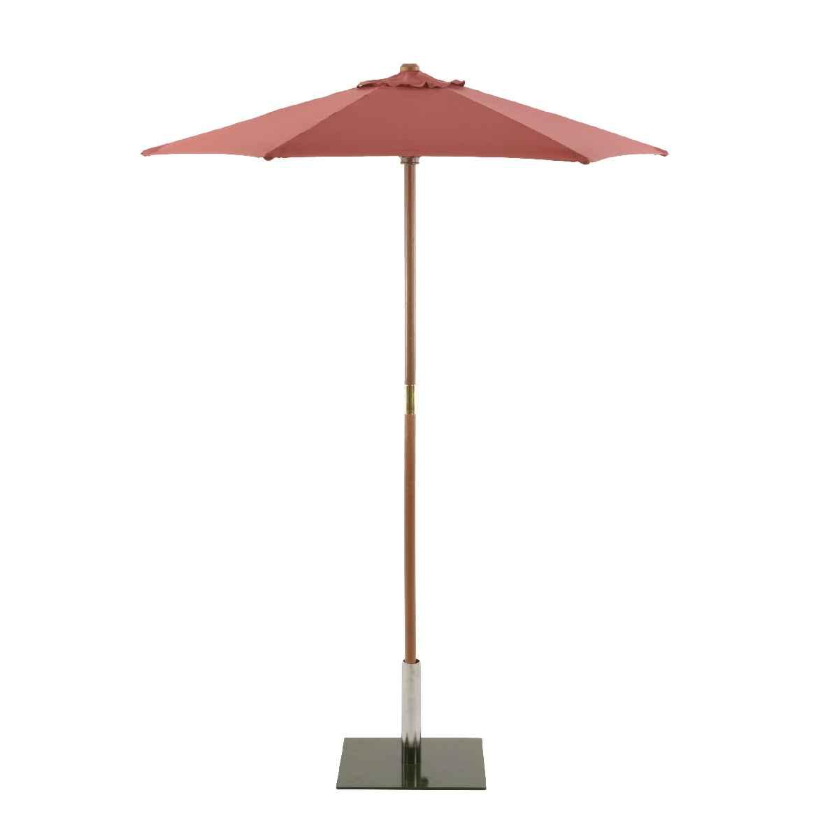 Sturdi Round 2m Wood Parasol (base not included) - Terracotta