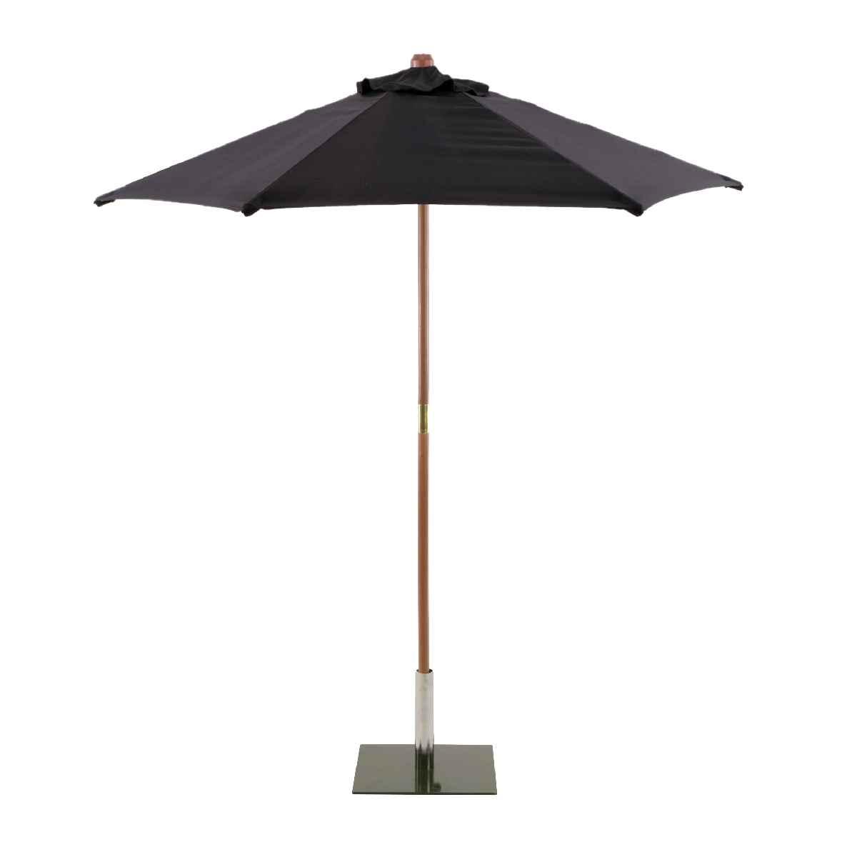 Sturdi Round 2.5m Wood Parasol (base not included) - Black