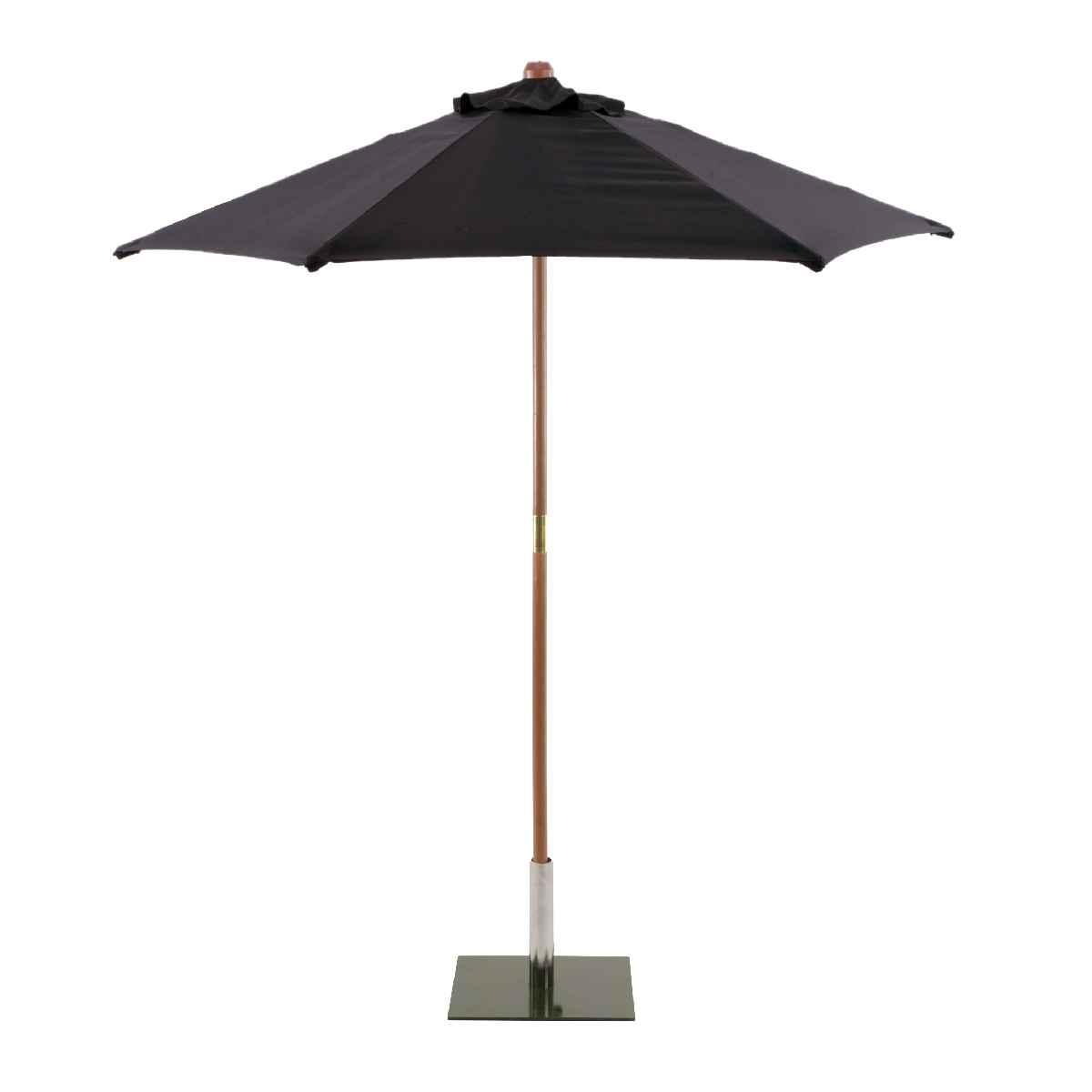 Sturdi Round 3m Wood Parasol (base not included) - Black