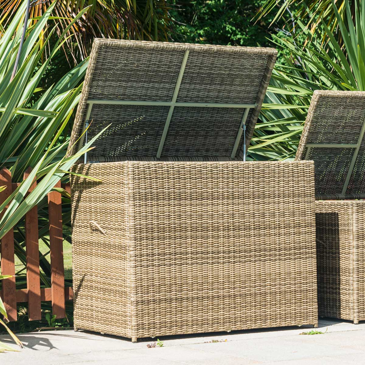 Glencrest Katie Blake Seville Large Waterproof Cushion Storage Box - Natural