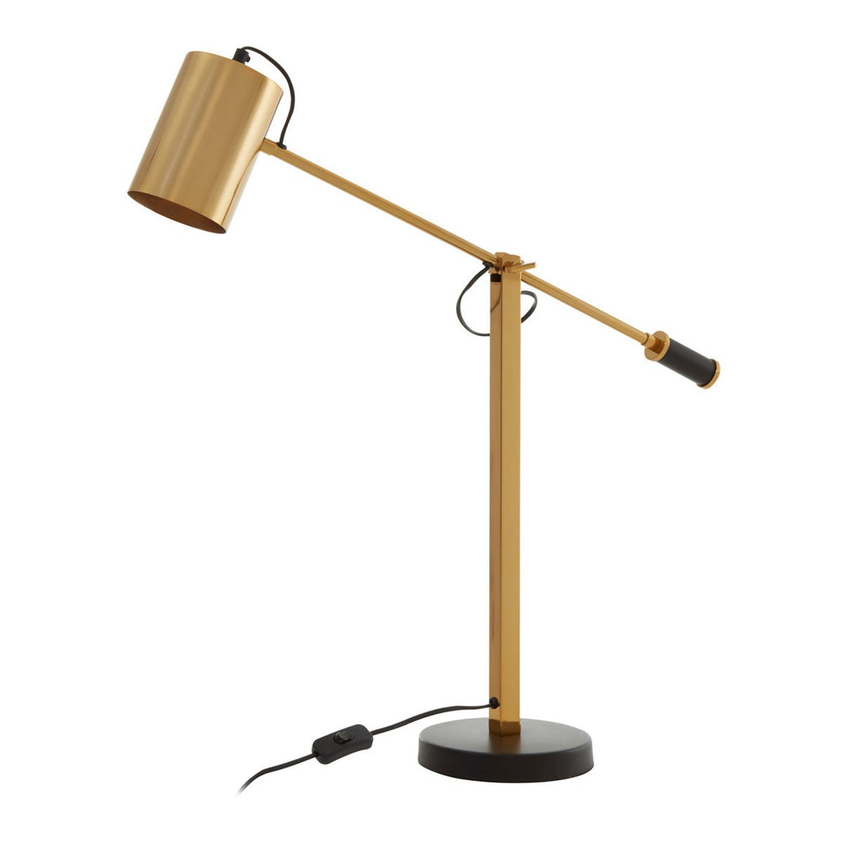 Interiors By Premier Vintage Table Lamp - Black/Gold Finish