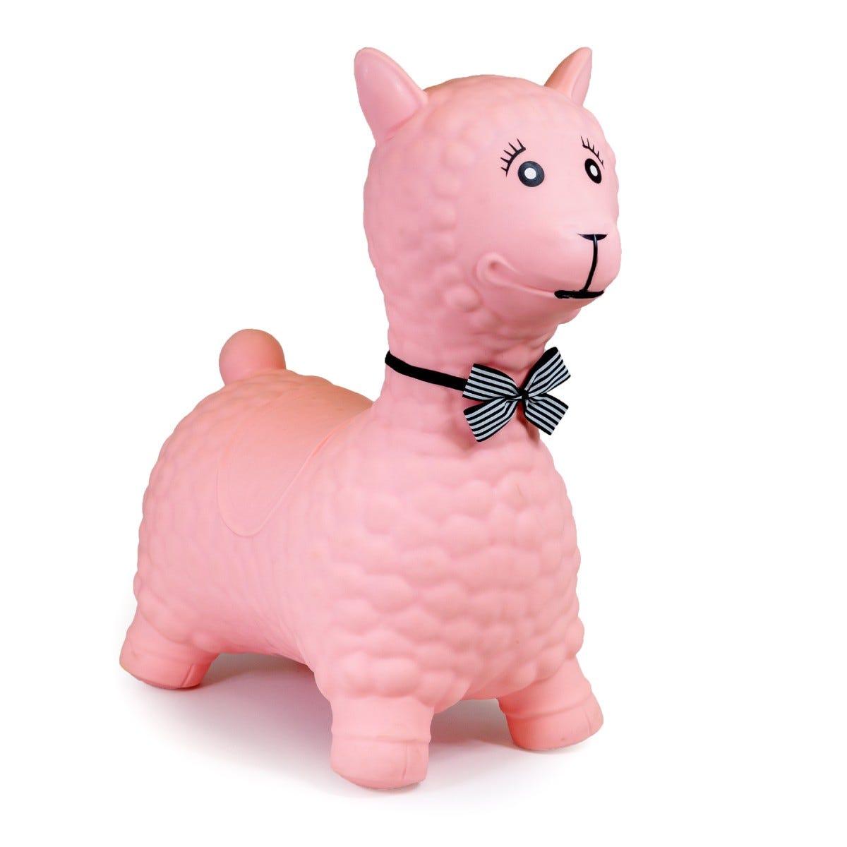Tobar Pink Llama Jumping Animal Bouncer
