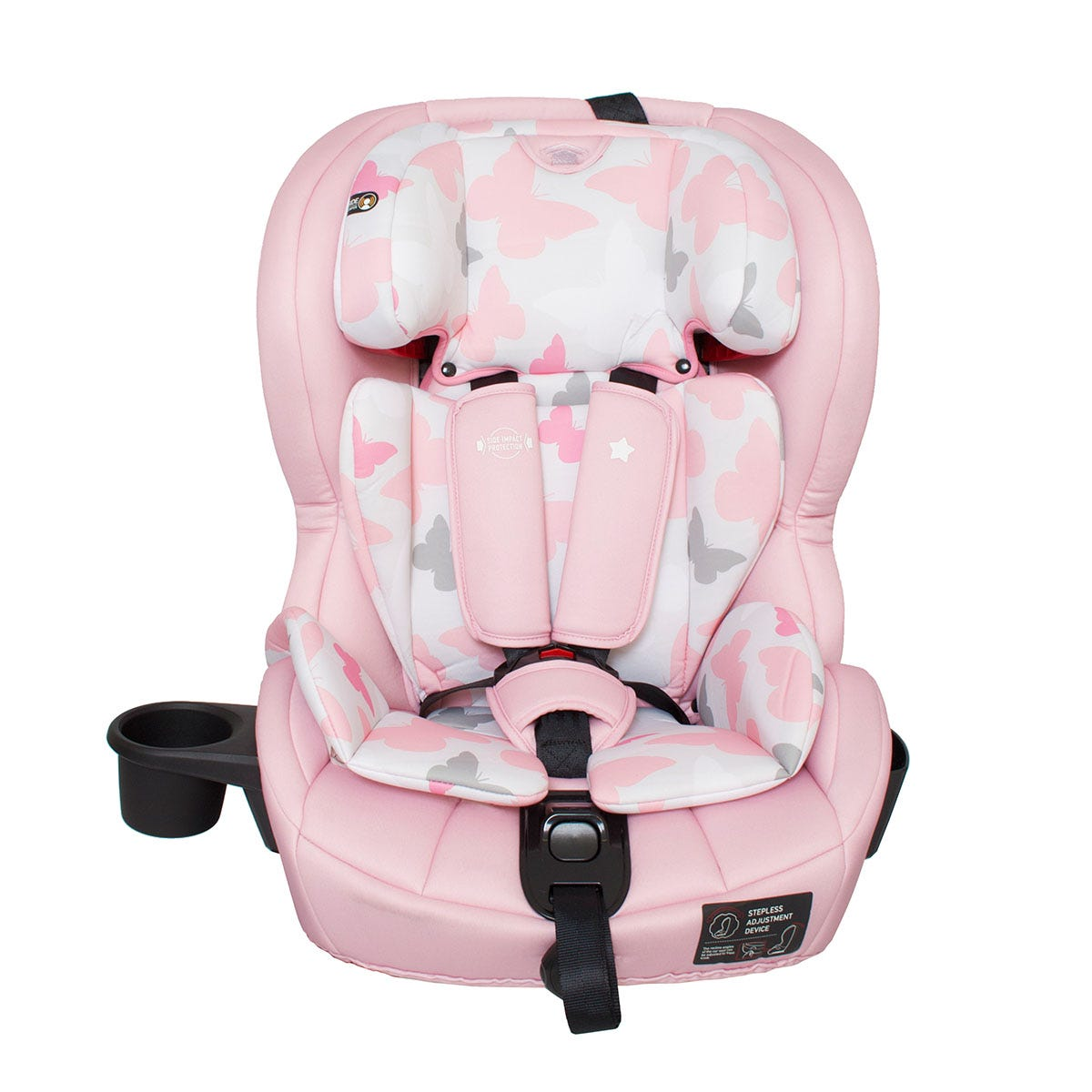 My Babiie Group 1 2 3 Isofix Car Seat - Pink Butterflies