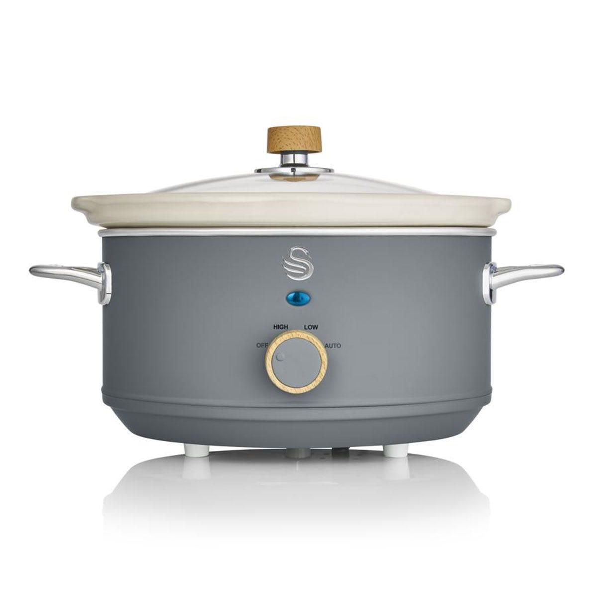 Swan SF17021GRYN Nordic 3.5L Slow Cooker - Grey