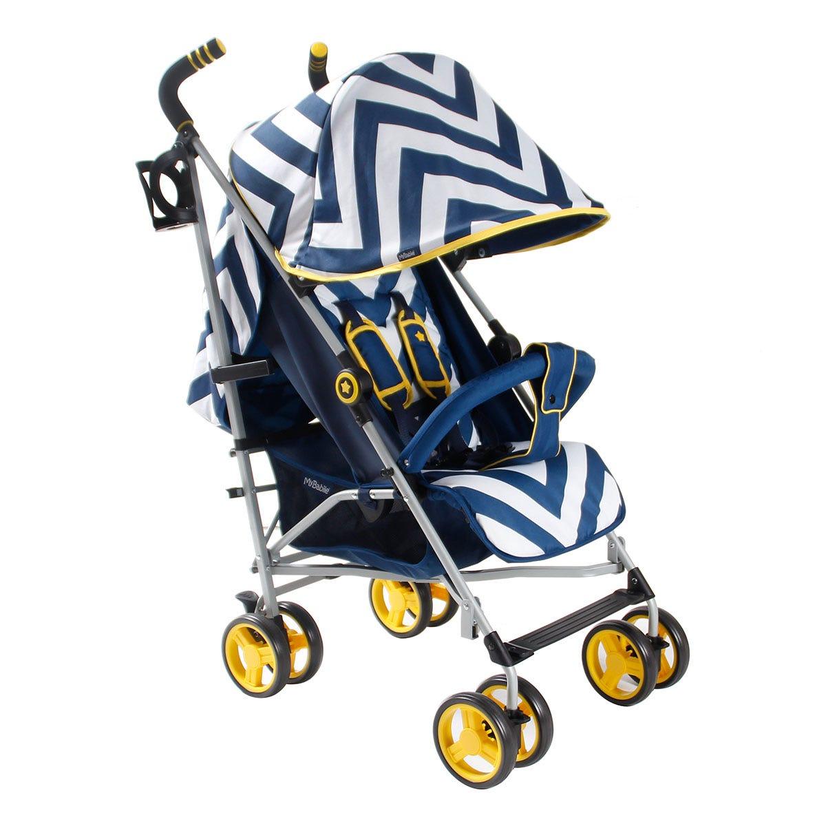 My Babiie MB02 Stroller - Blue Chevron