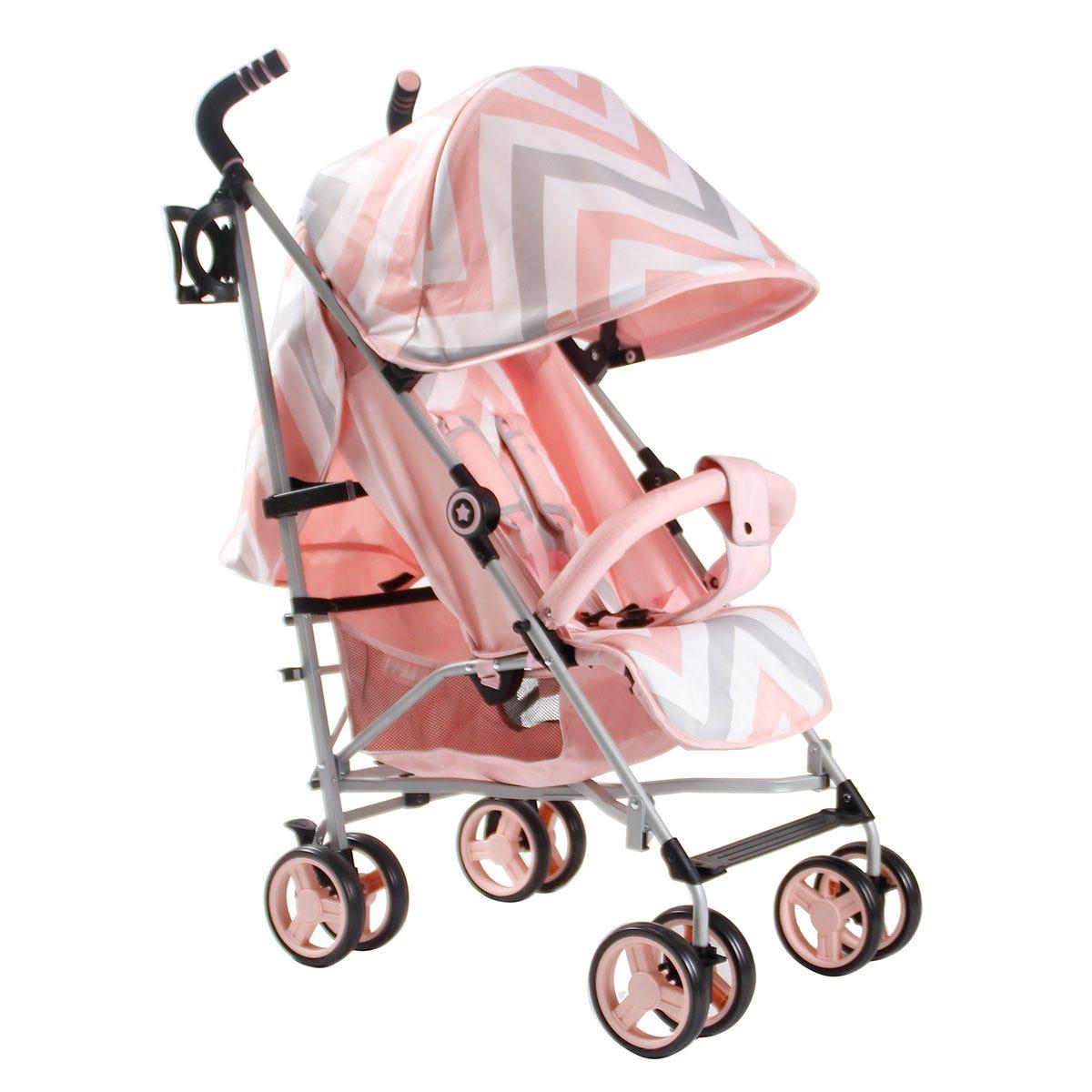 My Babiie MB02 Stroller - Pink Chevron