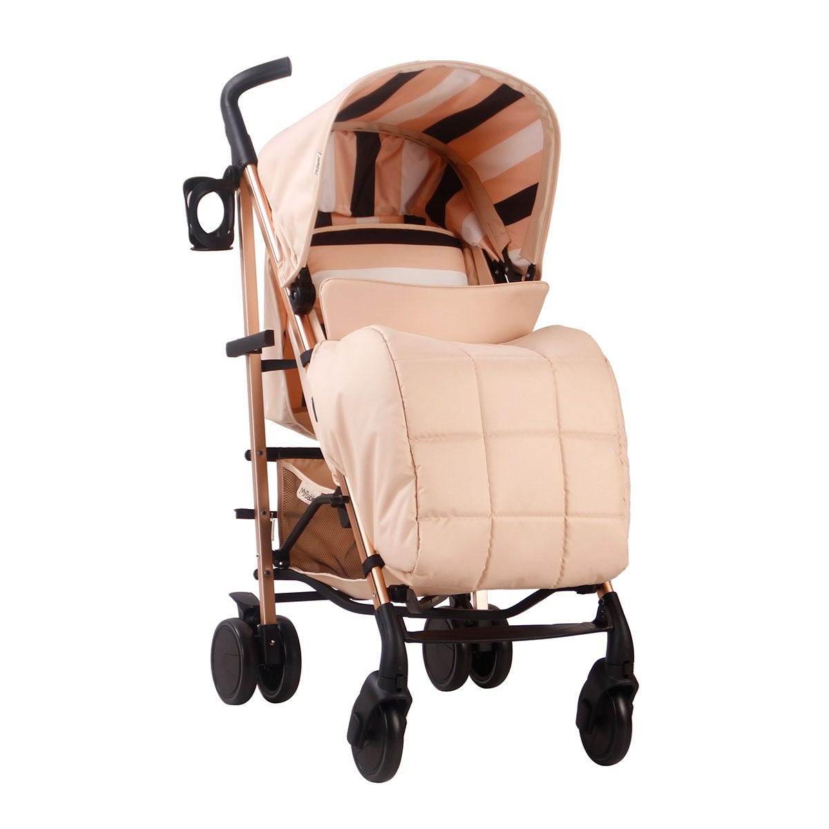 My Babiie AM to PM MB51 Rose Gold Stroller - Blush Stripes