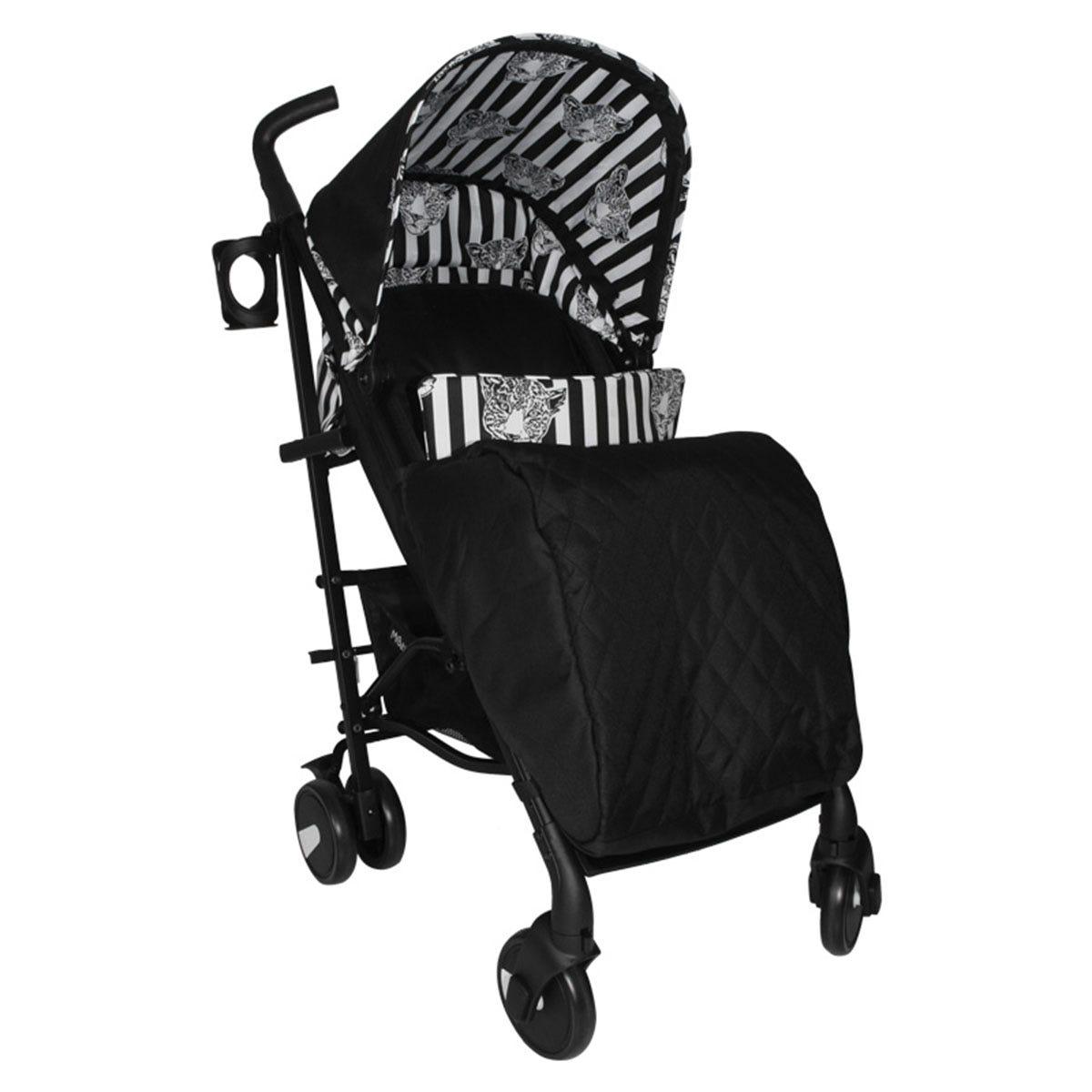 My Babiie Monochrome Leopard Stroller - Black