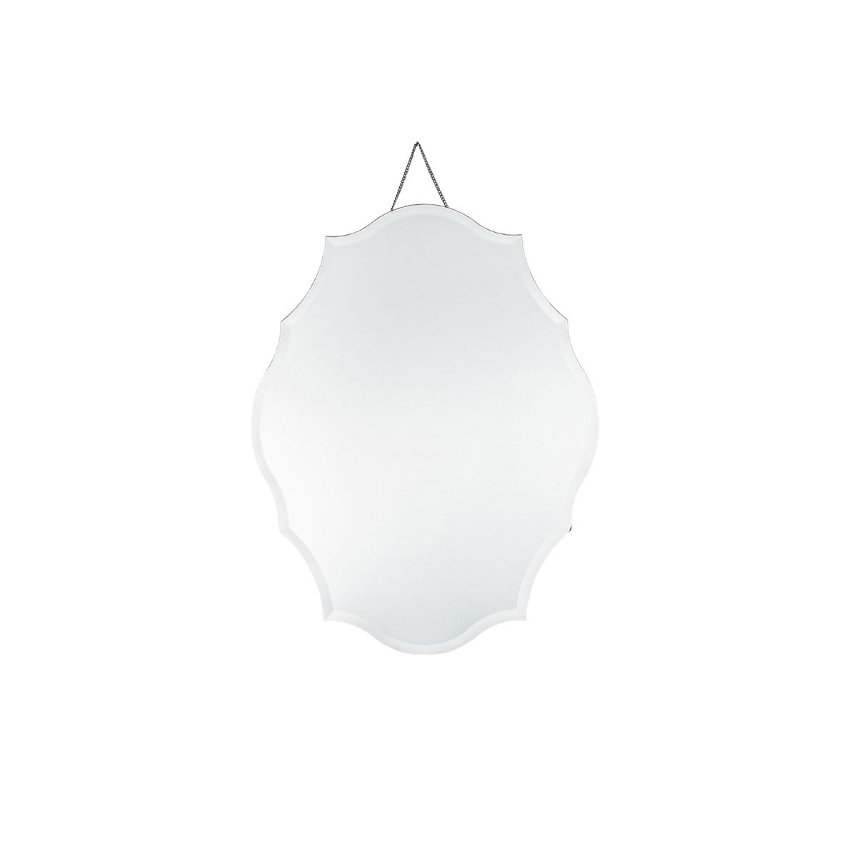 Pacific Clear Glass Scalloped Wall Mirror