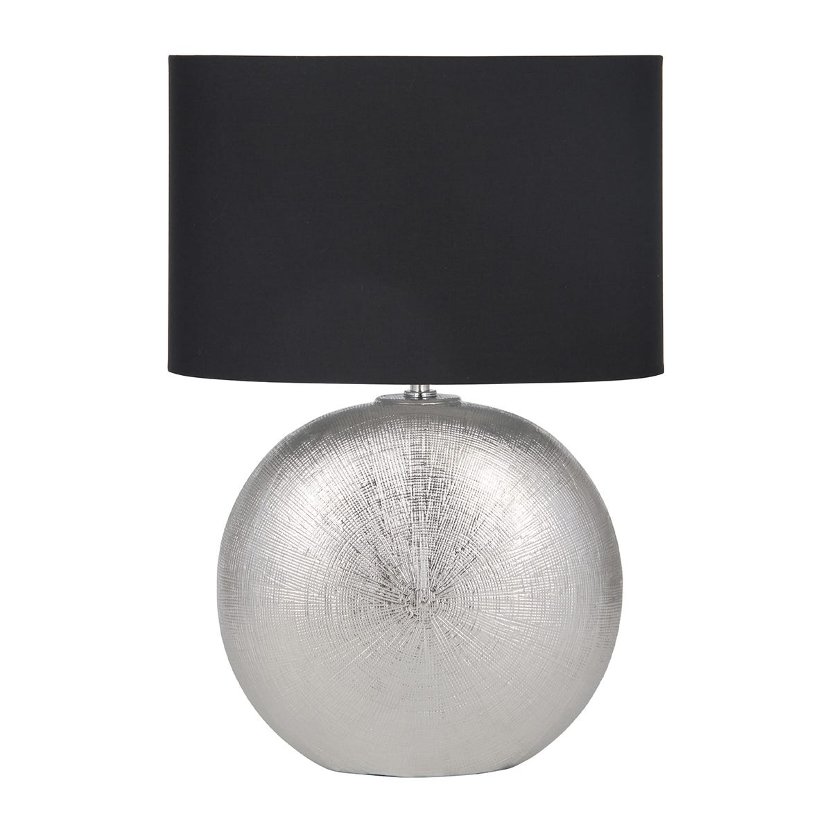 Silver Textured Ceramic Table Lamp