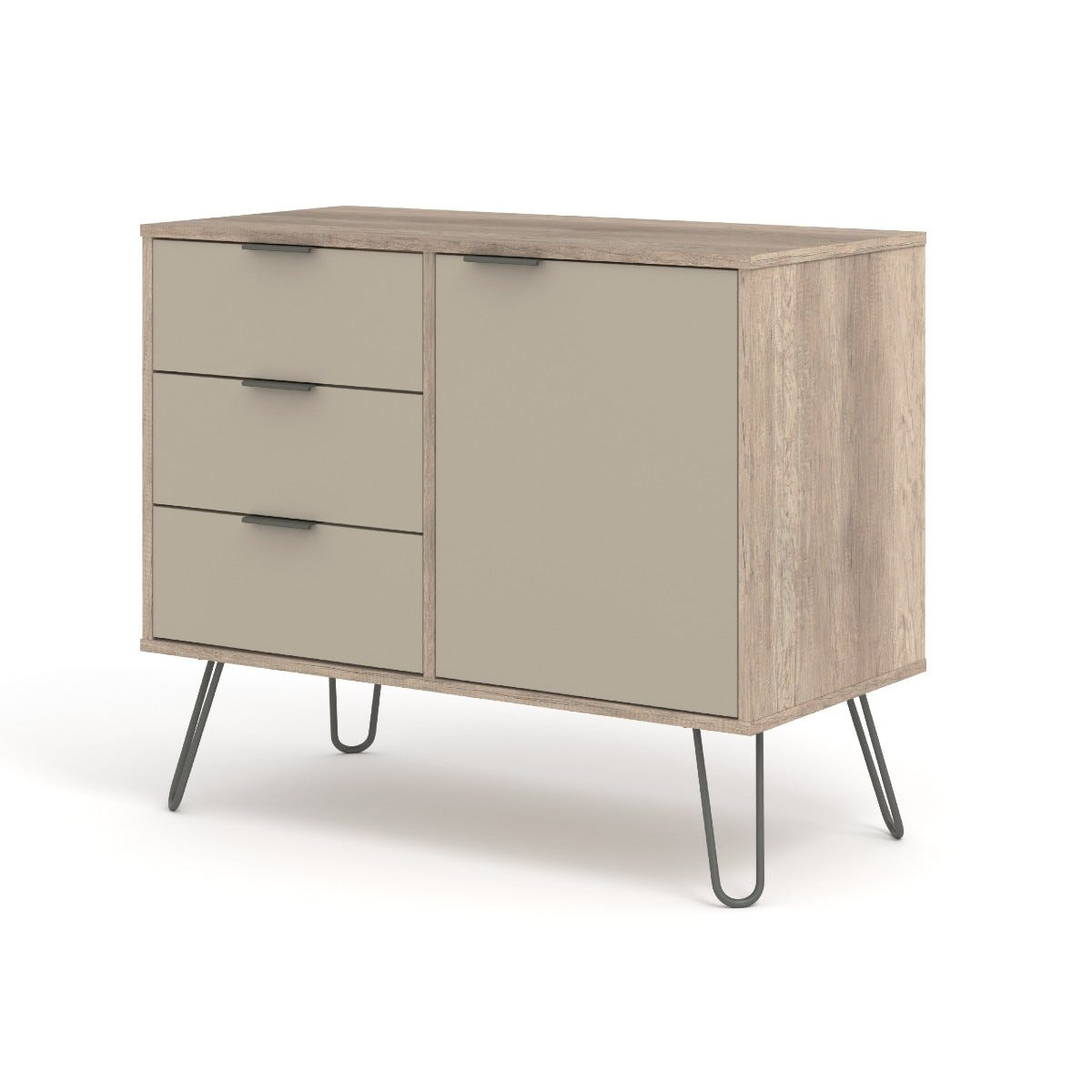 Augusta Small Sideboard With 1 Door 3 Drawers Driftwood