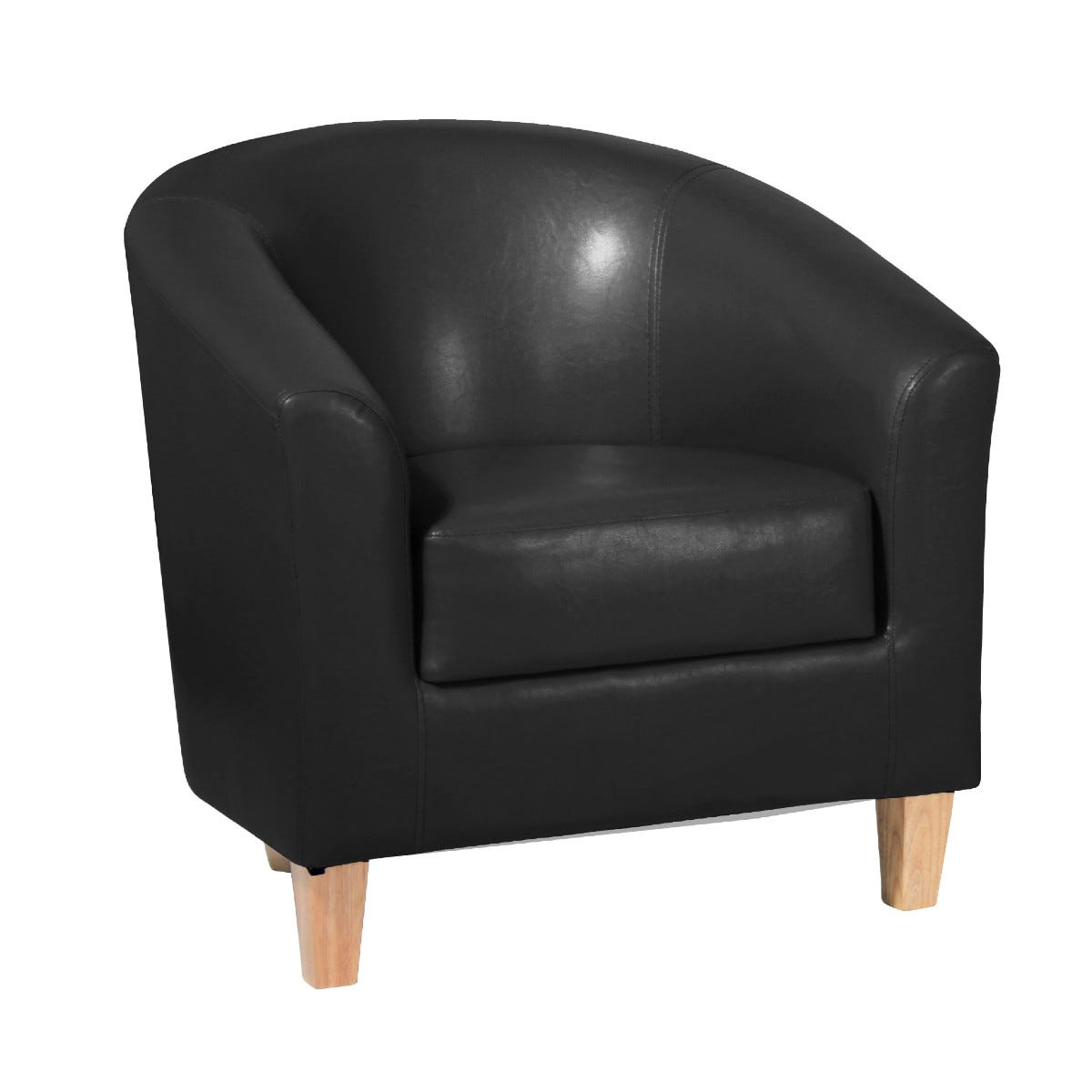 Clare Faux Leather Armchair Black